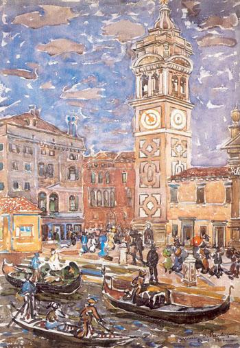 Santa Maria Formosa Venice c1911 - Maurice Prendergast reproduction oil painting