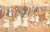 South Boston Pier c1895 - Maurice Prendergast
