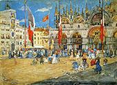 St Marks Venice 1898 - Maurice Prendergast