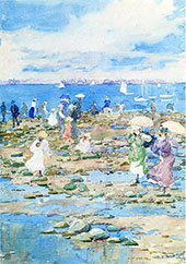 Summer Visitors 1896 - Maurice Prendergast reproduction oil painting