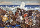 Surf c1900 - Maurice Prendergast reproduction oil painting