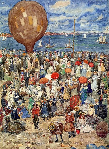 The Balloon 1898 - Maurice Prendergast reproduction oil painting