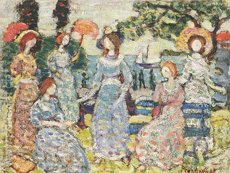 The Grove c1918 - Maurice Prendergast reproduction oil painting