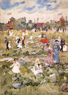 The Stony Pasture c1896 - Maurice Prendergast reproduction oil painting
