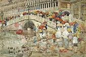 Umbrellas in the Rain 1899 - Maurice Prendergast