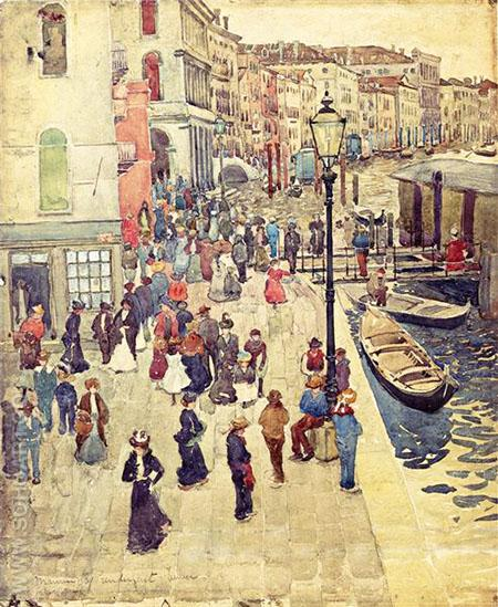 Venice c1898 - Maurice Prendergast reproduction oil painting