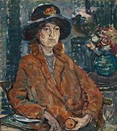 Woman in Brown Coat c1910 - Maurice Prendergast