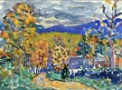 Autumn in New England - Maurice Prendergast reproduction oil painting