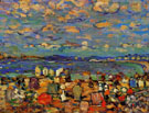 Crescent Beach - Maurice Prendergast reproduction oil painting