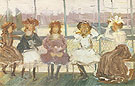 Evening on a Pleasure Boat - Maurice Prendergast reproduction oil painting