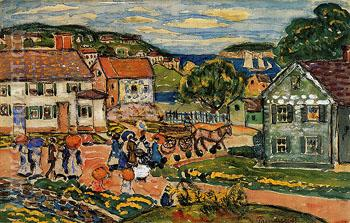 Marblehead - Maurice Prendergast reproduction oil painting