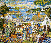 New England Harbor - Maurice Prendergast reproduction oil painting