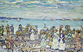 Opal Sea c1903 - Maurice Prendergast reproduction oil painting