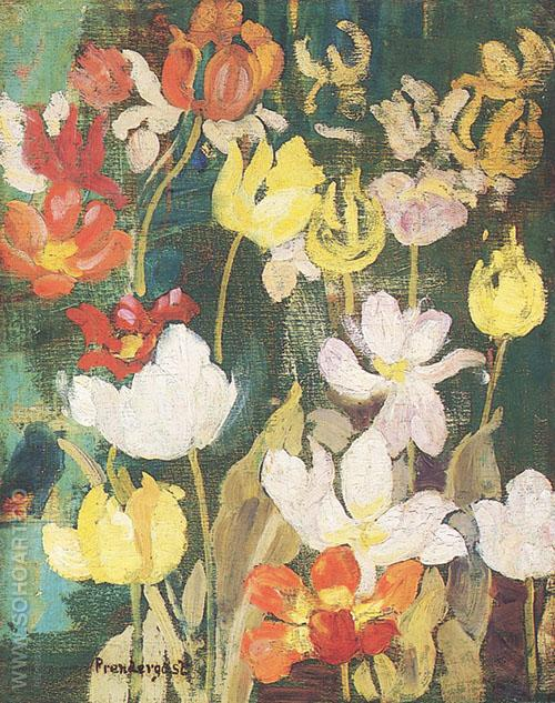 Spring Flowers 1904 - Maurice Prendergast reproduction oil painting