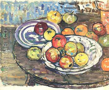 Still Life Apples Vase c1913 - Maurice Prendergast reproduction oil painting