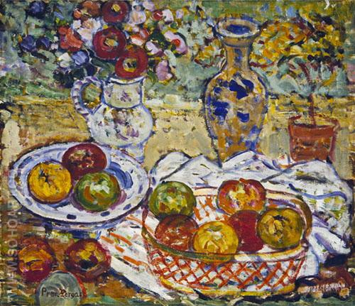 Still Life with Apples c1913 - Maurice Prendergast reproduction oil painting