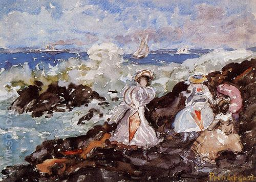 Surf Cohasset - Maurice Prendergast reproduction oil painting