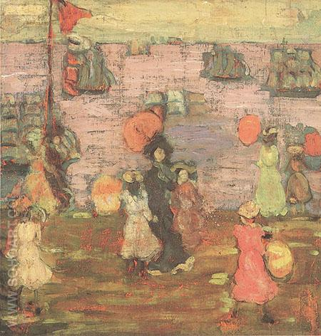 Telegraph Hill 1900 - Maurice Prendergast reproduction oil painting