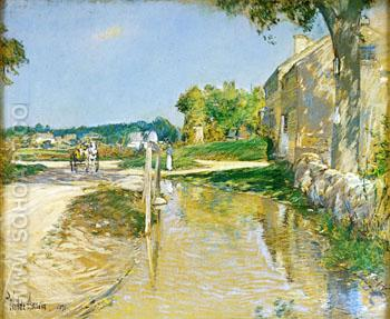 A Country Road - Childe Hassam reproduction oil painting