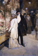 A New Years Nocturne New York - Childe Hassam