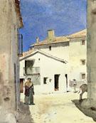A Street in Denia Spain - Childe Hassam