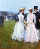 At The Grand Prix in Paris - Childe Hassam reproduction oil painting