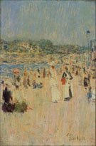 Beach at Newport 1891 - Childe Hassam reproduction oil painting