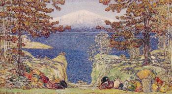 California 1919 - Childe Hassam reproduction oil painting