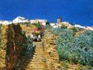 Church Procession Spanish Steps c1883 - Childe Hassam