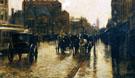 Columbus Avenue Rainy Day A 1885 - Childe Hassam