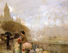 Flower Girl By The Seine Paris 1889 - Childe Hassam