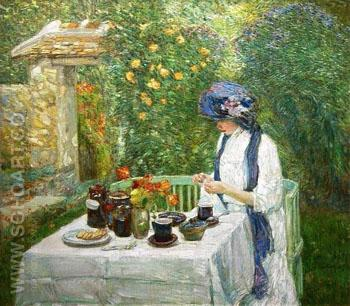French Tea Garden 1910 - Childe Hassam reproduction oil painting