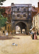 Gateway at Canterbury - Childe Hassam reproduction oil painting