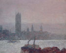 Houses of Parliament Early Evening 1898 - Childe Hassam