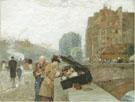 The Quai St Michel 1888 - Childe Hassam
