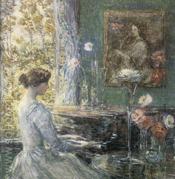 Improvisation - Childe Hassam reproduction oil painting