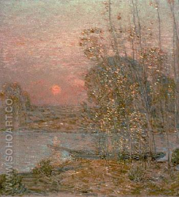 Late Afternoon Sunset 1903 - Childe Hassam reproduction oil painting