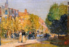 Marlborough Street Boston - Childe Hassam