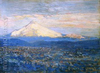Mount Hood - Childe Hassam reproduction oil painting