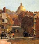 Mount Vernon Street Boston 1890 - Childe Hassam