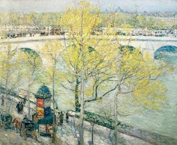 Pont Royal Paris - Childe Hassam reproduction oil painting