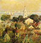 Provincetown 1900 - Childe Hassam reproduction oil painting