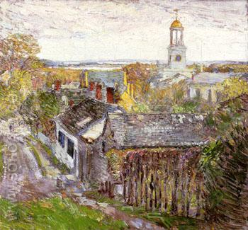 Quincy Massachusetts 1892 - Childe Hassam reproduction oil painting