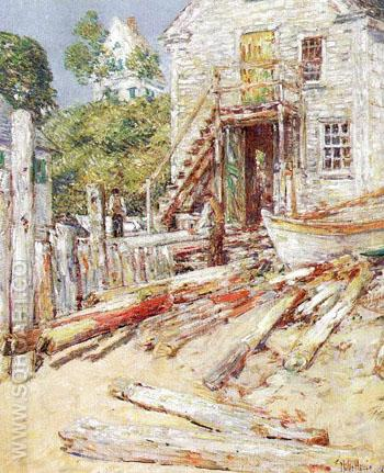 Riggers Shop at Provincetown Mass - Childe Hassam reproduction oil painting