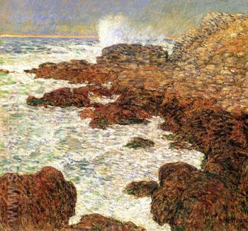 Seaweed and Surf Appledore - Childe Hassam reproduction oil painting