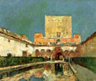 The Alhambra Aka Summer Palace of The Caliphs Granada Spain c1883 - Childe Hassam
