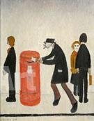 Man Posting in a Letter - L-S-Lowry