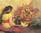 Crucita A Taos Indian Girl - Joseph Henry Sharp reproduction oil painting