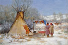 Indians Returning to a Winter Camp - Joseph Henry Sharp