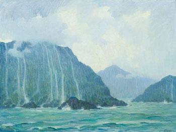 Napali Coast Molokai 1930 - Joseph Henry Sharp reproduction oil painting